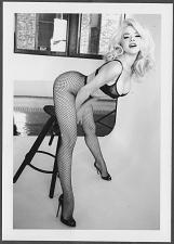 Buy SEXY GORGEOUS BLONDE MODEL BUSTY BOSOMY BLACK BRA POSE 5X7 REPRINT #007