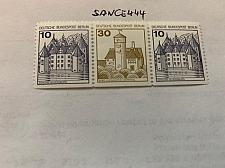 Buy Berlin Castle 10+30+10p bottom imperf. strip mnh 1980