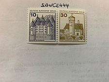 Buy Berlin Castle 10+30p bottom imperf. strip mnh 1980