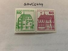 Buy Berlin Castle 50+60p top imperf. strip mnh 1980