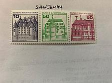 Buy Berlin Castle 10+50+60p top imperf. strip mnh 1980