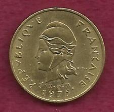 Buy FRANCE 2 Francs 1975 Coin - New Hebrides - Rare Coin !!