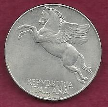 Buy ITALY 10 Lire 1950 Coin - Al, Engraved Rim - Peegasus Winged Horse in Flight