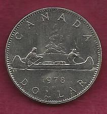 Buy CANADA 1 DOLLAR 1978 COIN- 0.500 SILVER ASW (23.32 G 0.375 Oz Silver) VOYAGEUR DOLLAR