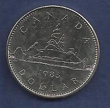 Buy CANADA 1 DOLLAR 1985 COIN- 0.500 SILVER ASW (23.32 G 0.375 Oz Silver) VOYAGEUR DOLLAR