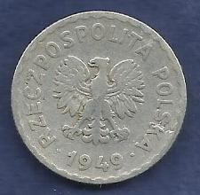 Buy POLAND 1 Zloty 1949 Coin