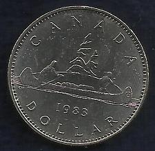 Buy CANADA 1 DOLLAR 1983 COIN- 0.500 SILVER ASW (23.32 G 0.375 Oz Silver) VOYAGEUR DOLLAR