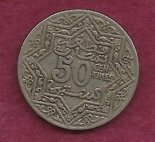 Buy MOROCCO 50 Centimes 1924 (ND) Coin