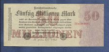 Buy GERMANY 50 Millionen Mark 1923 Uniface Banknote 104607 WEIMAR INFLATION P98