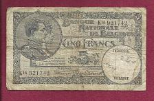 Buy BELGIUM 5 Francs 1938 Banknote No 921742 - King Albert & Queen Elisabeth