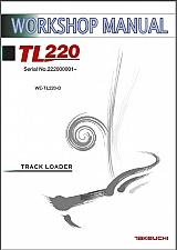 Buy Takeuchi TL220 Track Loader Service Workshop Manual on a CD - TL 220