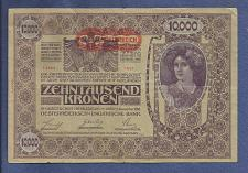 Buy AUSTRIA HUNGARY EMPIRE 10000 (II Edition) Kronen 1918 Banknote 14364 Series 1691