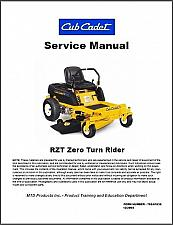 Buy Cub Cadet RZT Zero Turn Rider Lawn Mower Service Manual on a CD