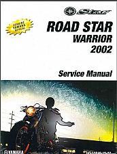 Buy 2002-2010 Yamaha Road Star Warrior 1700 Service Manual on a CD - XV1700 RoadStar