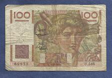 Buy FRANCE 100 Francs 1953 Banknote No 1361969971 - JEUNE PAYSA