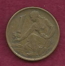 Buy Czechoslovakia 1 Koruna 1977 Coin Woman planting Linden tree