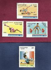 Buy CAMBODIA 1996 OLYMPHILEX'96 SET Of THREE STAMPS + BONUS 1996 World Soccer Stamps