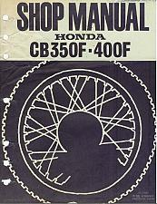 Buy Honda CB350F / CB400F Service Repair Shop Manual on a CD