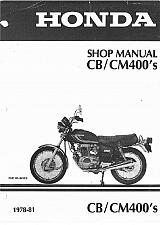 Buy 78-81 Honda CB400T CM400T CM400A CM400E CM400C Service Repair Shop Manual on CD