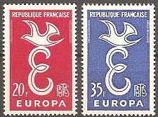 Buy [FR0889] France: Sc. no. 889-890 (1958) MNH Complete Set