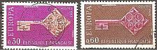 Buy [FR1209] France: Sc. no. 1209-1210 (1968) Used Complete Set