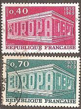 Buy [FR1245] France: Sc. no. 1245-1246 (1969) Used Complete Set