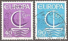 Buy [IT0942] Italy: Sc. no. 942-943 (1966) Used Complete Set