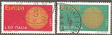 Buy [IT1013] Italy: Sc. no. 1013-1014 (1970) Used Complete Set
