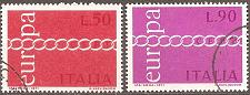 Buy [IT1038] Italy: Sc. no. 1038-1039 (1971) Used Complete Set