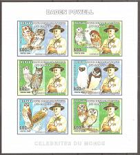 Buy [CI0040] Cinderella: Owls Miniature Sheet (2006) MNH