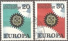 Buy Germany: Sc. No. 0969-0970 (1967) Used Complete Set