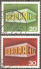 Buy [GE0996] Germany: Sc. No. 996-997 (1969) Used Complete Set