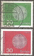 Buy [GE1018] Germany: Sc. No. 1018-1019 (1970) Used Complete Set