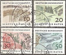 Buy [GE1000] Germany: Sc. No. 1000-1003 (1959) Used Complete Set