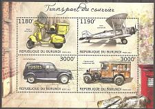 Buy [BN2953] Burundi: Stampworld. No. 2958-2961 (2012) MNH Miniature Sheet