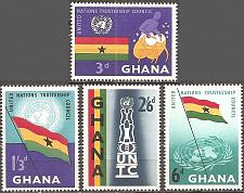 Buy [GH0067] Ghana: Sc. No. 67-70 (1959) MNH Complete Set