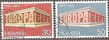 Buy [SW0500] Switzerland: Sc. No. 500-501 (1969) Used Complete Set