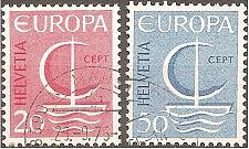 Buy [SW0477] Switzerland: Sc. No. 477-478 (1966) Used Complete Set