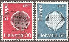 Buy [SW0515] Switzerland: Sc. No. 515-516 (1970) Used Complete Set