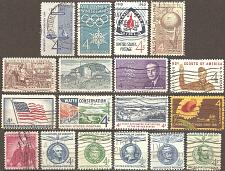Buy [USM004] US: 18 different 4-cent commemoratives, used