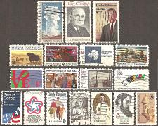 Buy [USM008] US: 18 different 8-cent commemoratives, used