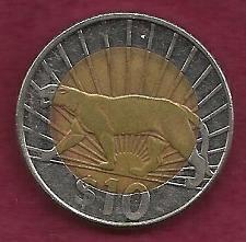 Buy URAGUAY $10 Pesos 2011 Coin - Puma Bi-Metal Coin