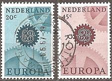 Buy [NE0444] Netherlands: Sc. no. 444-445 (1967) Used Complete Set