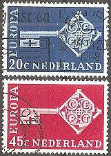 Buy [NE0452] Netherlands: Sc. no. 452-453 (1968) Used Complete Set