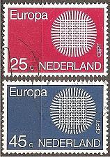 Buy [NE0483] Netherlands: Sc. no. 483-484 (1970) Used Complete Set