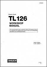 Buy Takeuchi TL126 Crawler Loader Service Workshop & Parts Manual on a CD - TL 126