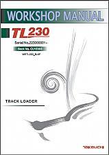Buy Takeuchi TL230 Crawler Loader Service Workshop & Parts Manual on a CD - TL 230