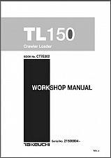 Buy Takeuchi TL150 Crawler Loader Service Workshop & Parts Manual on a CD - TL 150