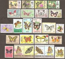 Buy [TM0024] Butterflies: 24 different mint/used.