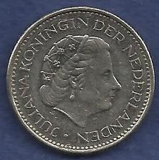 Buy NETHERLANDS 1 Gulden 1980 Coin - Pre-Euro Nickel Coin - Queen Juliana